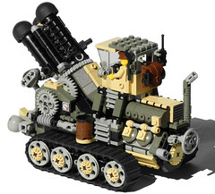 Hog Heavy Diesel Artillery Mk. XXV (rear) (aillery) Tags: up wheel self spring gun carriage control lego diesel wind military ground mortar weapon cannon vehicle artillery motor arrow shooter revolver hog rotating dart carrier spigot motorized propelled revolving tracked howitzer gatling nonelectric dieselpunk terradyne crayven