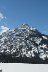 Grand Teton (Aggiewelshes) Tags: travel winter snow mountains landscape scenery april snowshoeing wyoming jacksonhole frozenlake grandtetonnationalpark 2016 gtnp taggartlake taggartlaketrail