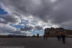 Edinburgh Castle (Philip Gillespie) Tags: blue sky sun white color colour castle wet sunshine rain weather clouds squall canon shower photography scotland edinburgh angle bright wide sunny tourist april 5d 1635 2016 sequent 5dsr