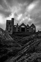 B&W moody shot of Bram Stoker's vampire inspiring, baronial Slains Castle, Aberdeenshire, Scotland (grumpybaldprof) Tags: sea sky bw castle monochrome rock clouds scotland waves mood moody aberdeenshire vampire towers scottish atmosphere cliffs dracula pile granite lichen walls fortress impression hdr atmospheric ruined bowness collieston baronial blackwhite northsea bramstoker slainscastle newslainscastle crudenbay earloferrol kingjamesvi clanhay