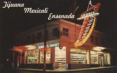 El Maguey Liquor Stores - Tijuana, Baja California (The Cardboard America Archives) Tags: sign vintage mexico neon postcard bajacalifornia liquorstore
