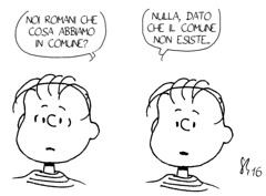 Condivisioni romane (Peanuts Reloaded) Tags: francescopaolotronca linusvanpelt peanuts reloaded comics drawing roma rome comune sindaco snoopyandfriends linus
