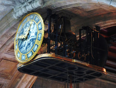 Time Waits For No One (Steve Taylor (Photography)) Tags: uk greatbritain blue england brown london art clock strange yellow museum digital grey design weird arch mechanical unitedkingdom ceiling odd va gb rollingstones victoriaandalbert timemachine steampunk timewaitsfornoone