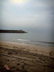 Calma (jantoniojess) Tags: sea espaa beach faro mar andaluca spain sand playa arena olas calma almera chancla villaricos placidez costaalmeriense