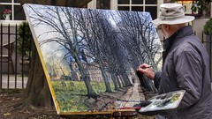 The Artist (Thank you for 4M+ views.) Tags: uk trees art painting artist cathedral hampshire canvas winchester paints nickfewings