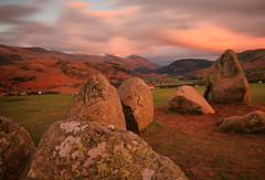 Looking Towards Helvellyn from Castlerigg Stone Circle (Andy Watson1) Tags: park uk trip travel light sunset vacation england sky mountain lake holiday snow mountains english history grass stone clouds canon circle landscape evening march countryside spring ancient scenery rocks long exposure view sheep britain stones district great north scenic sigma kingdom historic snowcapped national cumbria british viewpoint lakeland keswick helvellyn castlerigg englishheritage castleriggstonecircle 70d unitd