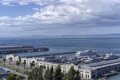 San Francisco Bay (GMills31) Tags: california bridge blue clouds docks boats bay ship pacific estuary embarcadero sanfranciscobay sonya7rii