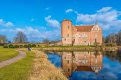 Magnificent Castle (mArt Image) Tags: blue sky people building castle water grass clouds reflections swan nikon focus sweden outdoor torup d610 explored