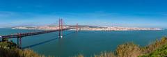Panorama of Lisbon... [Almada, Portugal - 2015] (Jose Constantino Gallery) Tags: bridge panorama water landscape coast seaside cityscape waterfront outdoor lisboa lisbon shore cristo ponte25deabril rei almada 2015 josconstantino joseconstantino