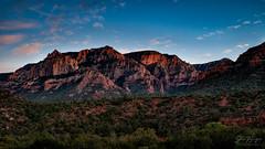 Sedona Evening (johnfuj) Tags: red arizona usa rock landscape evening scenery unitedstates desert sedona land environment