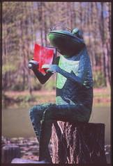 Toad (crisbirch) Tags: park sculpture pond nikon fuji voigtlander slide velvia toad fe e6 meadowlark slii