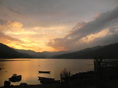 (hollyoverend99) Tags: travel nepal sunset lake outdoors scenery asia