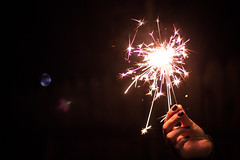 Happy new year!! Be blessed. (VMA (Vreja Michaela A.)) Tags: hand fireworks firework canon50mm canoneos600d