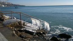 ... and ice (romfey) Tags: sea black bulgaria balchik