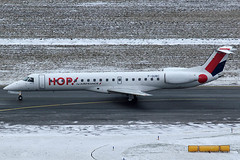 Hop Embraer 145 F-GUBC (c/n 145556) Operating a charter flight to Valencia. (Manfred Saitz) Tags: vienna wien airport hop flughafen vie embraer 145 freg schwechat e45 loww e145 fgubc