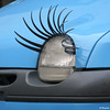 Beautiful Eyelashes (Artsy Blueem) Tags: street car funny strada eyelashes macchina divertente ciglia