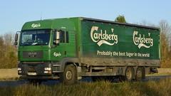 DK06 PYJ (panmanstan) Tags: man truck wagon motorway yorkshire transport lorry commercial newport vehicle freight m62 tgm