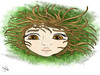 i'm a tree (nada.musleh) Tags: tree green girl face illustration dream بنت شجرة رسم فتاة ندىمصلح nadamusleh