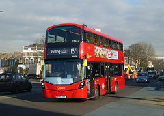 GAL WHV94 - BD65EWS - STOCKWELL - WED 20TH JAN 2016 (Bexleybus) Tags: london ahead station volvo go route hybrid gemini 155 tfl stockwell goahead wrightbus whv94 bd65ews
