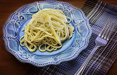 Pasta vermicelli with garlic and olive oil (CarmenSisson) Tags: food usa dinner lunch alabama plate fork pasta meal supper serving vermicelli starch coden