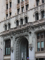 Gothic Entrance (lefeber) Tags: door city nyc newyorkcity windows urban newyork building architecture facade downtown arch gothic doorway ornate victoriangothic