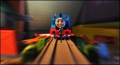 Ant-Man Vs. Thomas the Tank Engine (Mindless Philosopher) Tags: train toy nikon collectible marvel avengers disneystore trainset thomasthetankengine antman marvelselect nikond90 diamondselect scottlang