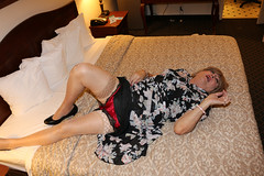 new115386-IMG_2259t (Misscherieamor) Tags: tv transformation feminine cd femme motel tgirl transgender mature sissy tranny transvestite crossdress ts gurl tg travestis prettydress travesti travestido travestie m2f onbed xdresser tgurl traviesa travestito slipshowing travestit satintappanties strockingtops