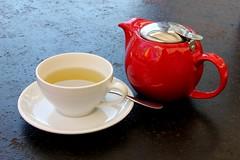 Green tea (Gillian Everett) Tags: red green tea queensland teapot coolum stellarossa
