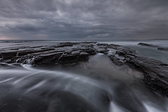 The Right Type of Mood (Xenedis) Tags: ocean morning seascape beach water clouds flow dawn rocks australia nsw newsouthwales southcoast cascade channel wollongong austinmer illawarra littleaustinmer littleausti littleaustinmerbeach