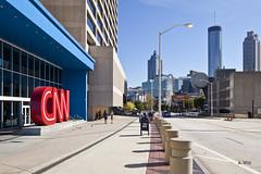 At CNN Building Entrance (A. Wee) Tags: atlanta usa america georgia headquarters cnn hq 美国 亚特兰大 佐治亚州