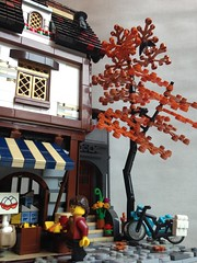 Dairy Shop (Bennemans1984) Tags: city water wheel shop cheese town milk store lego bricks medieval tudor eggs blocks dairy moc afol