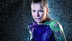 Running in the Rain (dominikwoerner) Tags: portrait sports wet girl rain exercise running jogging fitness fit
