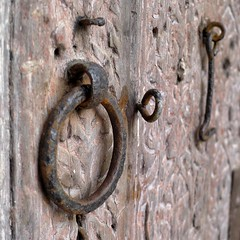 Hardware (halifaxlight (back in March)) Tags: door square hardware rust ring morocco medina ironwork hook tradition carvedwood fes