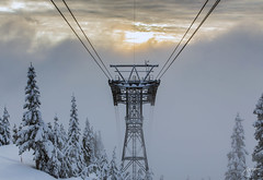 Grouse Mountain (jennchanphotography) Tags: winter mountain snow love nature vancouver lights grouse northshore local northvancouver lighttrail jennchanphotography
