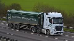 DK15 XZP (panmanstan) Tags: truck wagon mercedes motorway m18 yorkshire transport lorry commercial vehicle freight mp4 bulk langham haulage hgv actros