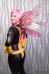 x-men pixie 01 (CE Photogenetix) Tags: pink portrait woman halloween beautiful beauty metal female silver comics studio fly flying back costume wings comic cosplay flight pixie fairy xmen hero superhero fairey marvel shoulder catsuit select overtheshoulder canon40d christinaedwards