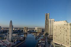 Yokohama Landmark Tower (innlai) Tags: bridge sunrise bay nikon d750 yokohama 20mm cp f18g