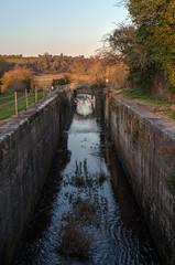 Disused lock, Boyne NAvigation (Rob Hurson) Tags: ireland evening spring pentax ramparts tamron2875mmf28 riverboyne comeath pentaxk30 boynenavigation