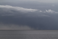 Squall on Nantucket Sound (brucetopher) Tags: ocean travel winter sea cloud seascape tourism water weather ferry squall grey boat scenery stormy boating storms winterstorm ferryboat foulweather nantucketsound