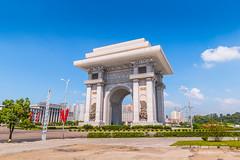 Arch of Triumph of Pyongyang (reubenteo) Tags: sunset building sunrise landscape asia korea communist communism kimjongil socialist socialism northkorea pyongyang kimilsung kimjongun