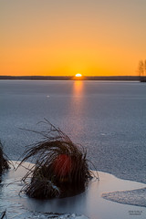 Good morning (JaniOjalaFINLAND) Tags: ocean blue winter sunset orange sun lake snow ice sunrise suomi finland river landscape spring melting melt jani ojala wwwjaniojalacom