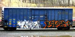 tanz - reken (timetomakethepasta) Tags: train graffiti tanz hype boxcar freight reken tofx