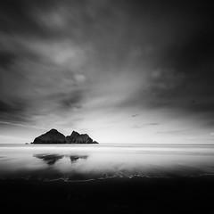 Dark days (Nick green2012) Tags: life blackandwhite seascape beach clouds dark island shoreline atmospheric