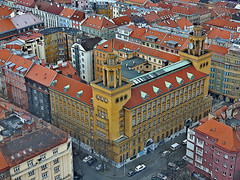 View from ikov Television tower. Prague, Czech Republic. March 23, 2016 (Vadiroma) Tags: city architecture buildings europe czech prague capital praha televisiontower 2016 esko izkov