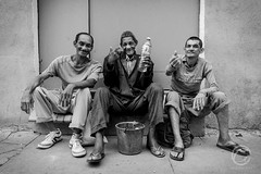 Three Wise Men (Carbonell Icon) Tags: street old city portrait people blackandwhite bw man black detail men monochrome smile contrast canon happy photography flickr downtown cuba group streetphotography streetlife expressive cbd bnw 2015 vsco canon5dmiii 5dmiii vscocam