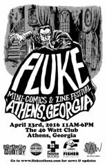 FLUKE 1_1280 (RANCHO COCOA) Tags: comics georgia poster flyer vampire athens dracula comix fluke zines smallpress selfpublishing 40watt minicomics minicomicszinefestival