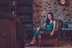 The Library. (Jordi Corbilla Photography) Tags: portrait beauty 35mm model nikon library girona brazilian elegant f18 santgregori portraitwoman portraitprofessional d7000 maslacasassa