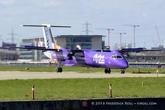 Flybe DHC-8 ~ G-JEDR ( Freddie) Tags: london londoncityairport newham e16 lcy royaldocks eglc runway27