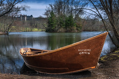 Biltmore Orvis Fly-Fishing Boat (*Ken Lane*) Tags: trees sky usa nature water beautiful leaves fauna clouds geotagged photography boot geese amazing pond barca barco dof unitedstates asheville outdoor awesome northcarolina landmark lagoon depthoffield foliage destination serene flyfishing lovely nikkor woodenboat bateau fishingboat touristattraction historicplace biltmorehouse biltmoreestategardens avl  wnc thelagoon carolinas historiclandmark westernnc westernnorthcarolina ashevillenc orvis  ashevillenorthcarolina traveldestination waterripples haj  thebiltmorehouse usnationalregisterofhistoricplaces ashevillephotography  nikond800 buncombecountynorthcarolina rosebankpark usnationalhistoriclandmarkdistrict northcarolinatourism visitasheville thebiltmoreestategardens ashevilletourism nationalhistoriclandmarksinnorthcarolina geo:lat=3554116737 geo:lon=8256405428 biltmoreorvis biltmoreorvisboat