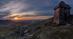 Sunset from Commedagh (Glen Sumner Photography) Tags: blue ireland panorama mountains color colour nature newcastle landscape landscapes ngc peak summit northernireland countydown mournes slievecommedagh mournewall